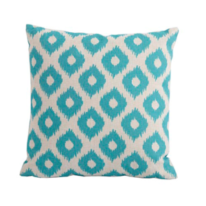 Bramblecrest Green Lattice Square Scatter Cushion