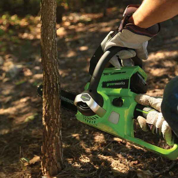 Greenworks 25cm Chainsaw With 2Ah Battery And Charger lifestyle