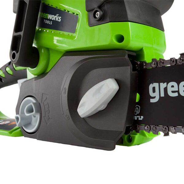 Greenworks 25cm Chainsaw With 2Ah Battery And Charger safety lock