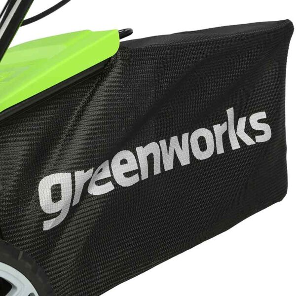 Greenworks 48V 36cm Lawnmower with 2 x 2Ah Batteries & Charger collection bag