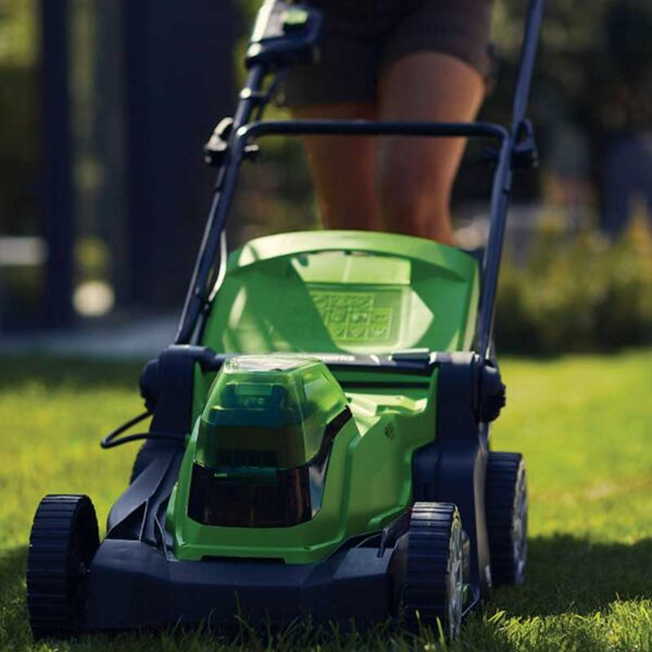 Greenworks 48V 36cm Lawnmower with 2 x 2Ah Batteries & Charger lifestyle