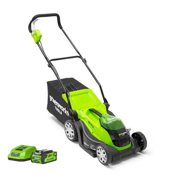 Greenworks Lawnmower 40V 35cm With 2Ah Battery & Charger