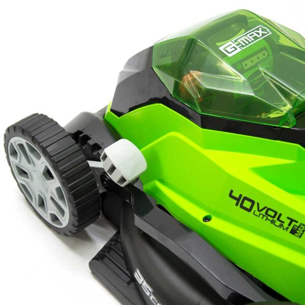 Greenworks Lawnmower 40V 35cm With 2Ah Battery & Charger height adjuster