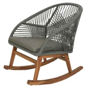 Grey Seville Rope Rocking Chair