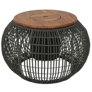 Grey Seville Rope Round Side Table