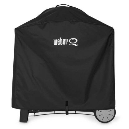 Weber Barbecue Grill Premium Cover for Q 3000 / Q 2000 series with cart (Black)