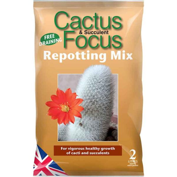 Growth Technology Cactus Focus Repotting Mix (2 litres)