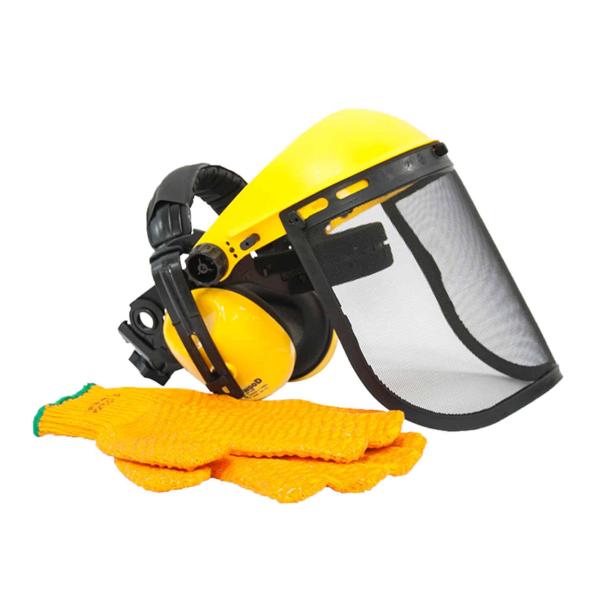 The Handy Steel Mesh Visor, Ear Defenders & Non-slip Gloves