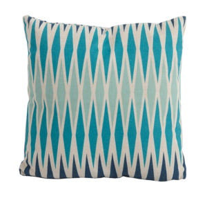 Harlequin Blue Square Scatter Cushion