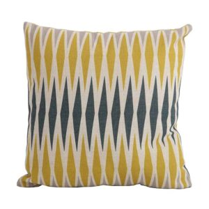 Bramblecrest Harlequin Yellow Square Scatter Cushion
