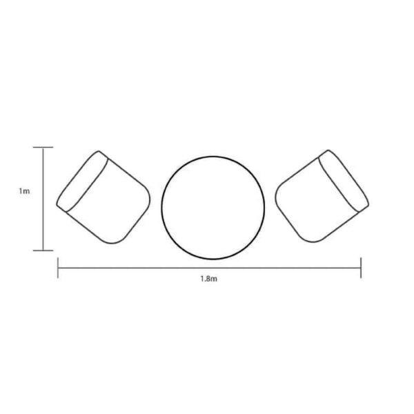 Hartman Berkeley Bistro Set dimensions