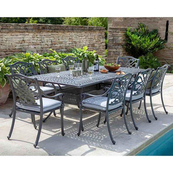 Hartman Capri 8 Seat Rectangular Dining Set