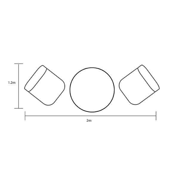 Hartman Capri Bistro Set dimensions