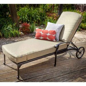 Hartman Capri Bronze Lounger with Luxury Amber Cushion