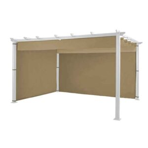 Hartman Caramel Curtain Pack for 3m x 3m Square Roma Pergola