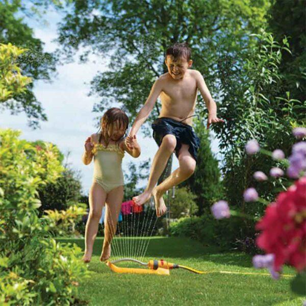 Have fun with the Hozelock Rectangular Sprinkler Plus