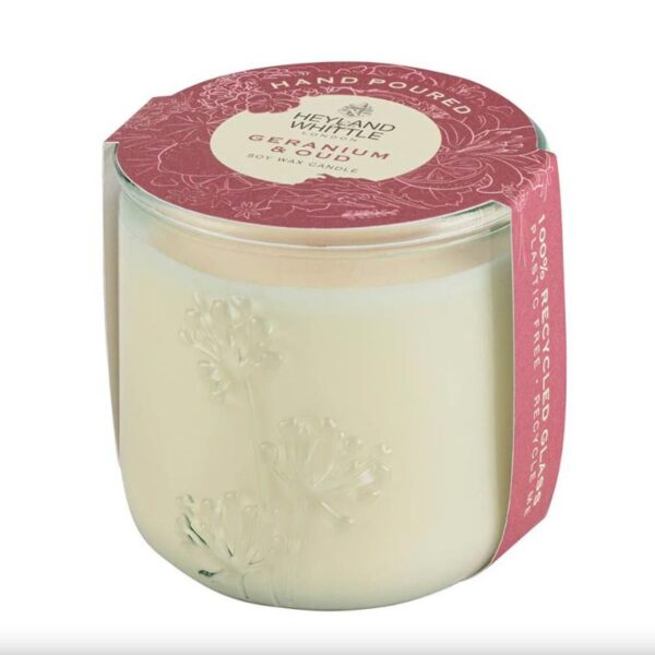 Heyland & Whittle Geranium & Oud Scented Candle