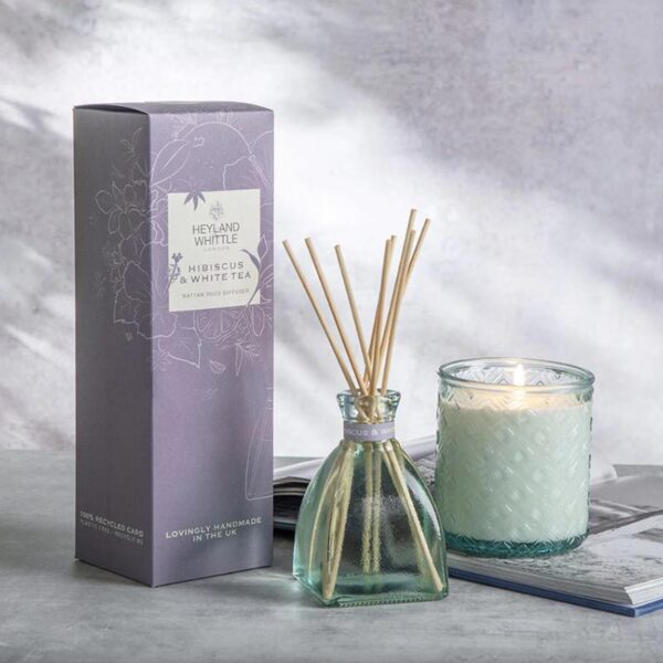 Heyland & Whittle Hibiscus & White Tea Reed Diffuser Lifestyle