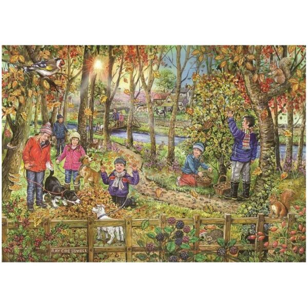 House Of Puzzles Autumn Leaves Big 250 Piece Jigsaw Puzzle image