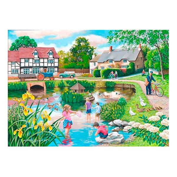 House Of Puzzles Duck Pond BIG 250 Piece Jigsaw Puzzle Lifestyle