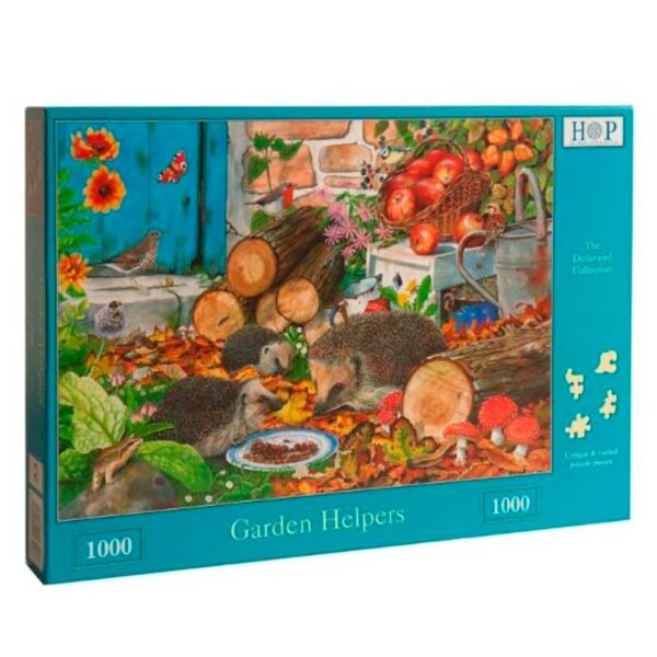 House Of Puzzles Garden Helpers 1000 Piece Jigsaw Puzzle Box