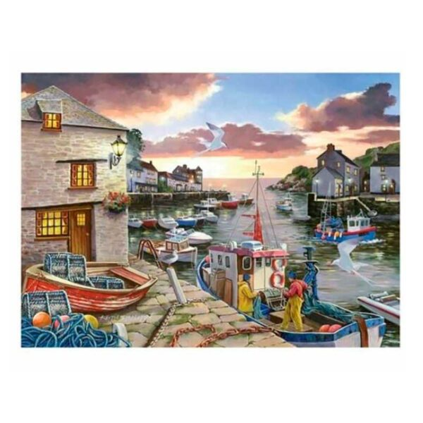 House Of Puzzles Harbour Lights BIG 250 Piece Jigsaw Puzzle-Lifestyle