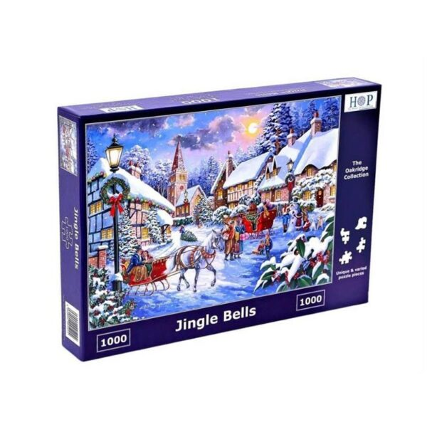 House Of Puzzles Jingle Bells 1000 Piece Jigsaw Puzzle