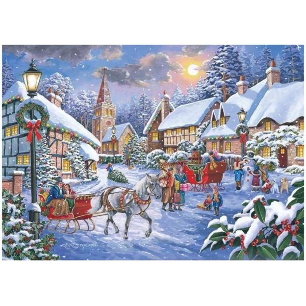 House Of Puzzles Jingle Bells 1000 Piece Jigsaw Puzzle image