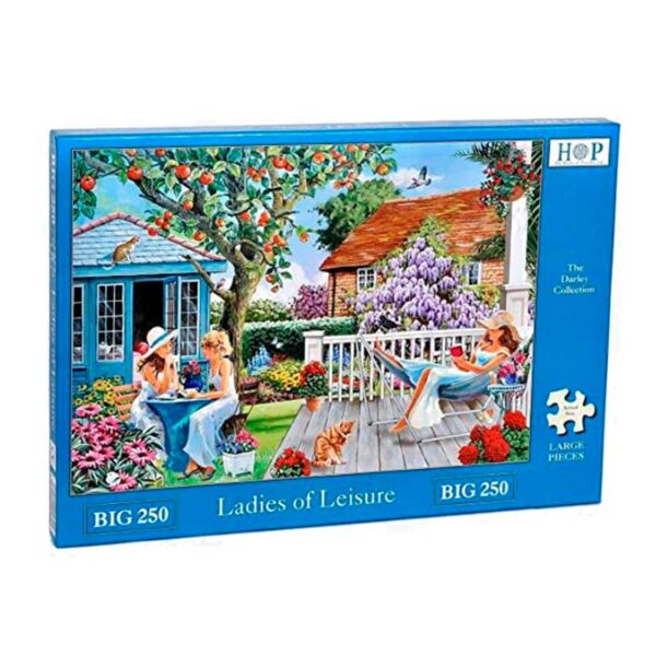 House Of Puzzles Ladies Of Leisure BIG 250 Piece Jigsaw Puzzle Box
