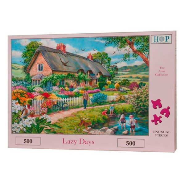 House Of Puzzles Lazy Days 500 Piece Jigsaw Puzzle Box