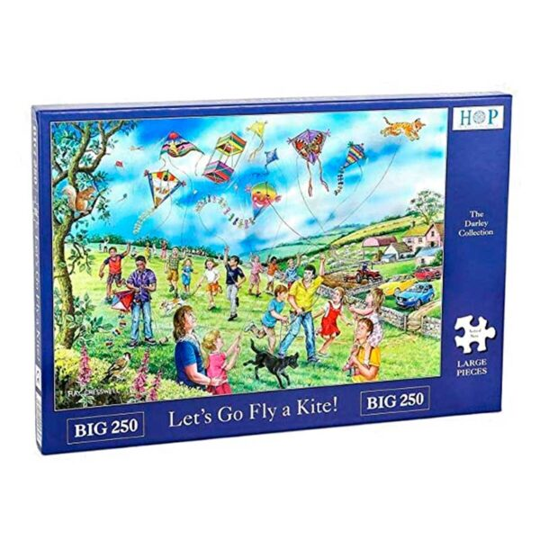 House Of Puzzles Let's Fly A Kite BIG 250 Piece Jigsaw Puzzle Box