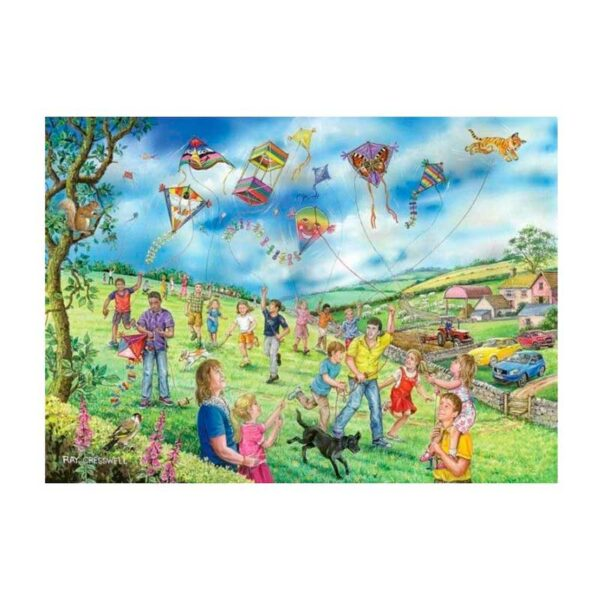 House Of Puzzles Let's Fly A Kite BIG 250 Piece Jigsaw Puzzle Lifestyle