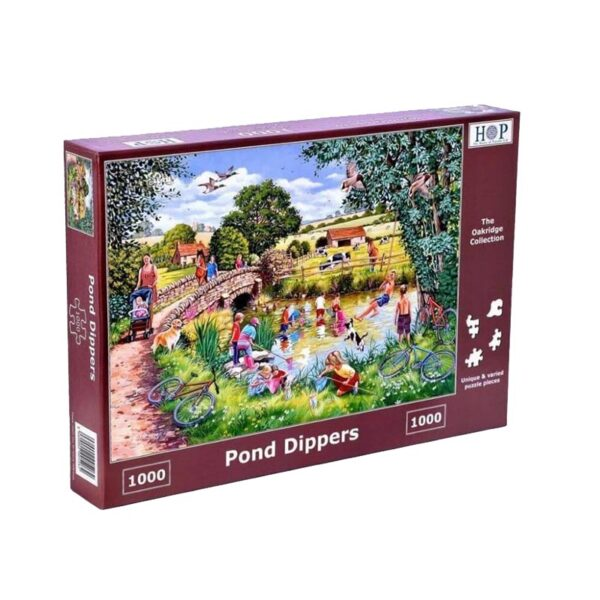 House Of Puzzles Pond Dippers 1000 Piece Jigsaw Puzzle