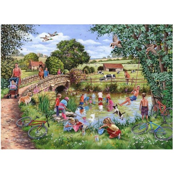 House Of Puzzles Pond Dippers 1000 Piece Jigsaw Puzzle image