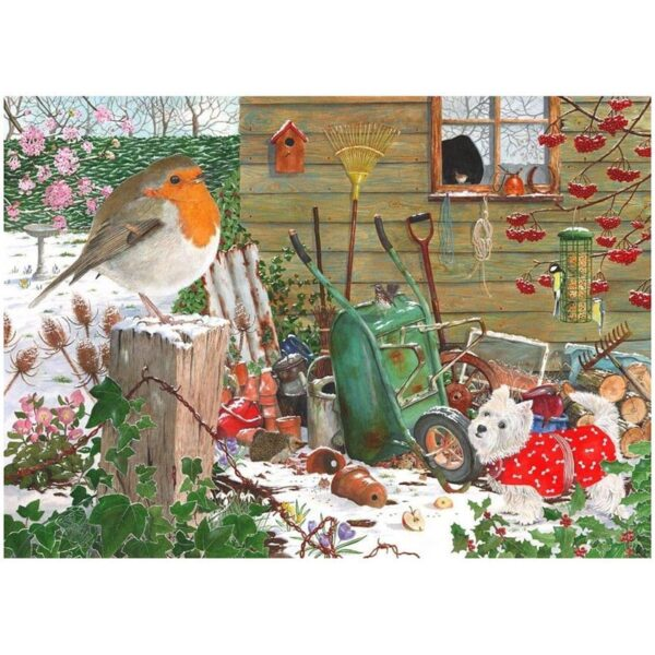 House Of Puzzles Robin Redbreast 1000 Piece Jigsaw Puzzle image
