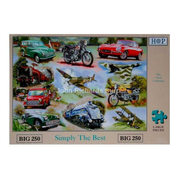 House Of Puzzles Simply The Best BIG 250 Piece Jigsaw Puzzle Box