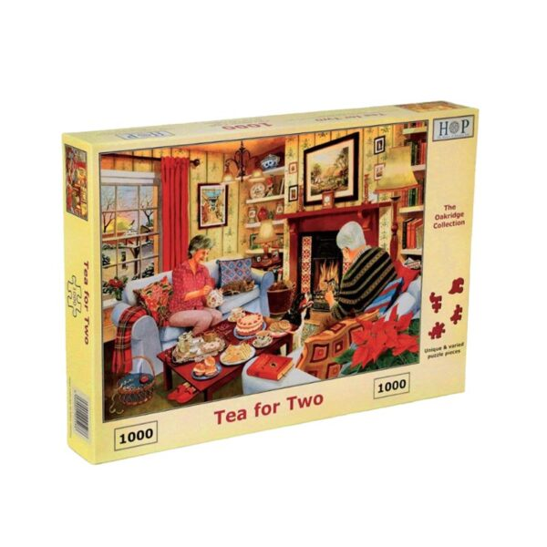 House Of Puzzles Tea For Two 1000 Piece Jigsaw Puzzle