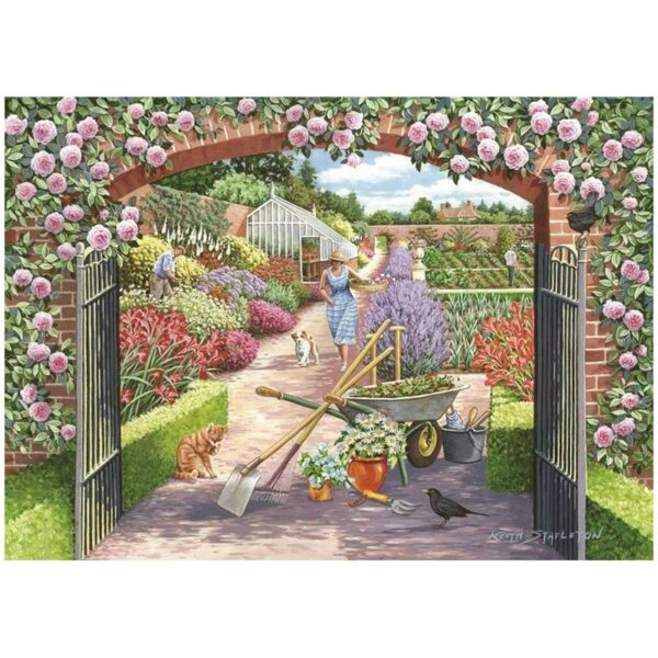 House Of Puzzles Walled Garden 500 Piece Jigsaw Puzzle image