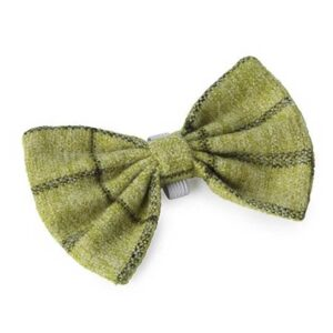 House of Paws Green Tweed Dog Bow Tie