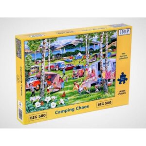 House of Puzzles Camping Chaos Big 500pc Jigsaw Puzzle