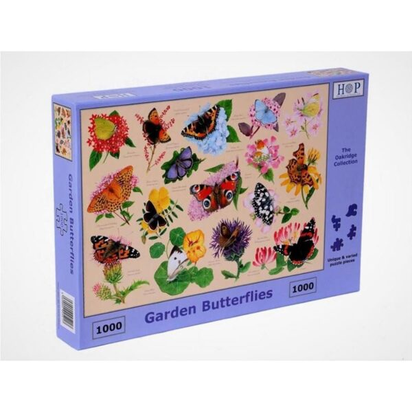 House of Puzzles Garden Butterflies 1000pc Jigsaw Puzzle