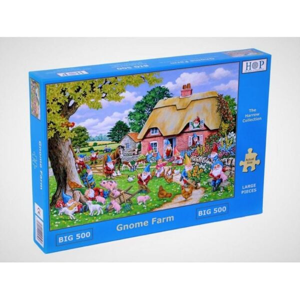 House of Puzzles Gnome Farm Big 500pc Jigsaw Puzzle