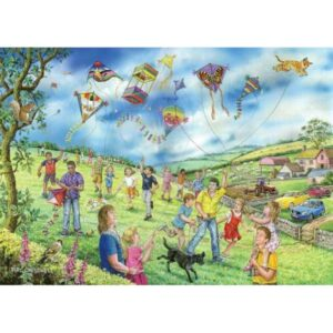 House of Puzzles Let's Go Fly A Kite Big 250 Piece Jigsaw Puzzle