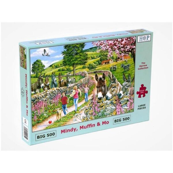 House of Puzzles Mindy, Muffin & Mo Big 500pc Jigsaw Puzzle