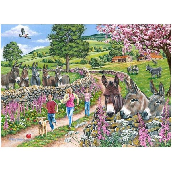 House of Puzzles Mindy, Muffin & Mo Big 500pc Jigsaw Puzzle Image