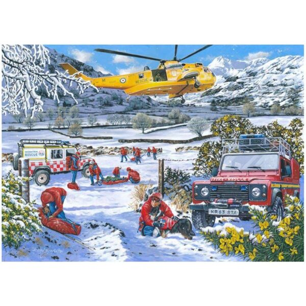 House of Puzzles Mountain Rescue 1000pc Jigsaw Puzzle Image