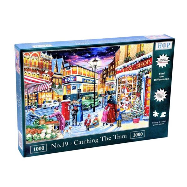 House of Puzzles No.19 - Catching the Tram 1000pc Jigsaw Puzzle box