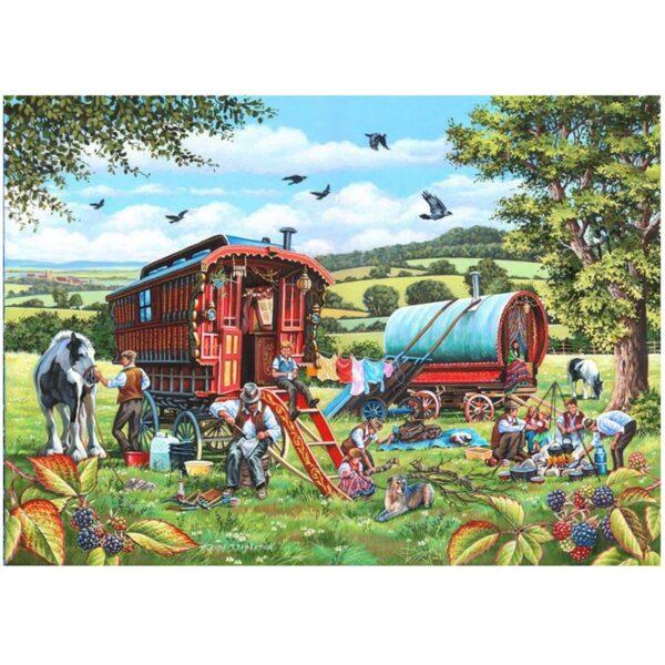 House of Puzzles Pedlar Man 1000pc Jigsaw Puzzle Image