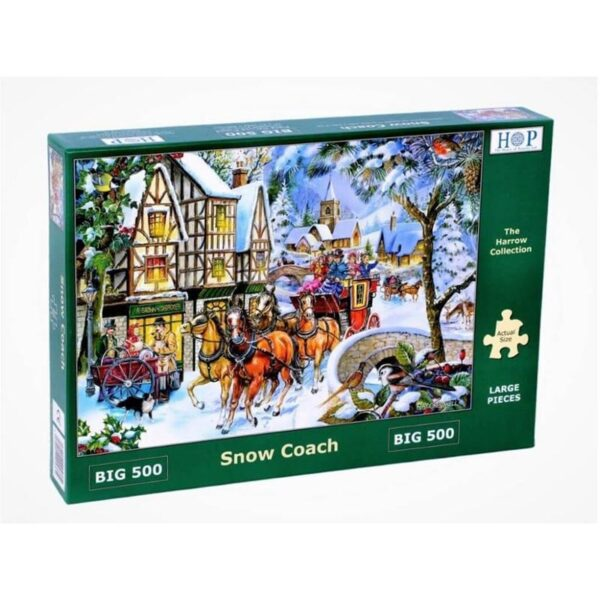 House of Puzzles Snow Coach Big 500pc Jigsaw Puzzle