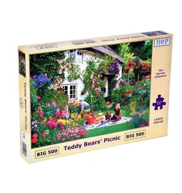 House of Puzzles Teddy Bears' Picnic Big 500pc Jigsaw Puzzle box